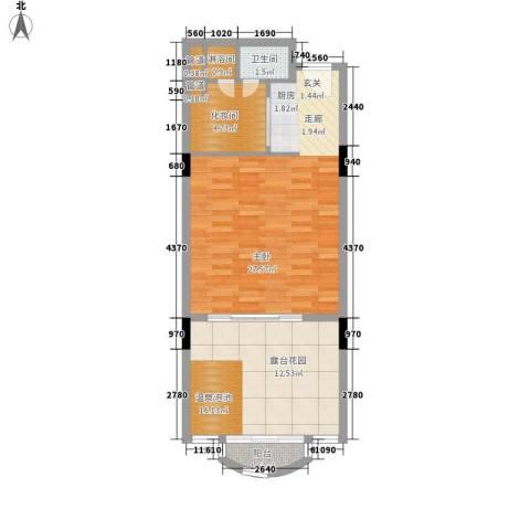 春晖园·随园1室0厅1卫0厨58.00㎡户型图