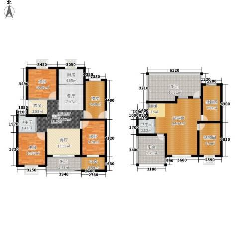 嘉恒・格林恬园3室1厅2卫1厨234.00㎡户型图