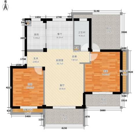 南岸花园东区2室0厅1卫1厨98.91㎡户型图