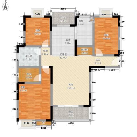 益阳世纪嘉苑3室0厅1卫1厨137.00㎡户型图