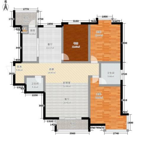欧翔奥锋3室0厅2卫1厨140.00㎡户型图