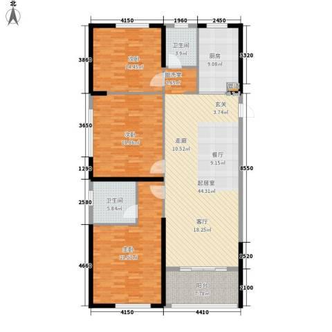 双子星城市广场3室0厅2卫1厨139.00㎡户型图