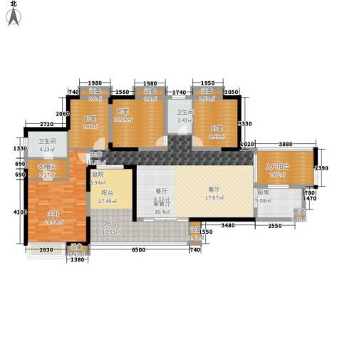 骏逸・第一江岸1室1厅2卫1厨143.00㎡户型图