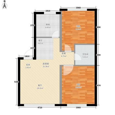 金域明珠2室0厅1卫1厨87.00㎡户型图