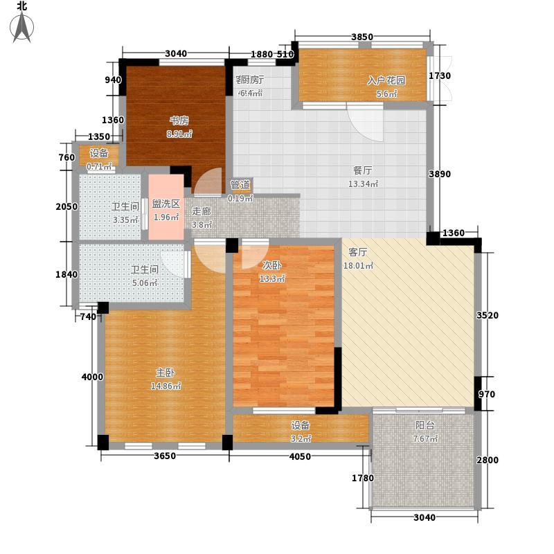 东方维罗纳120.00㎡南区29#31#等标准层G1户型3室2厅