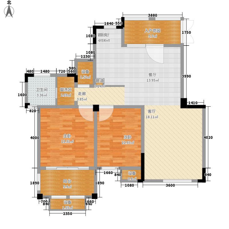 东方维罗纳98.00㎡G4户型2室2厅