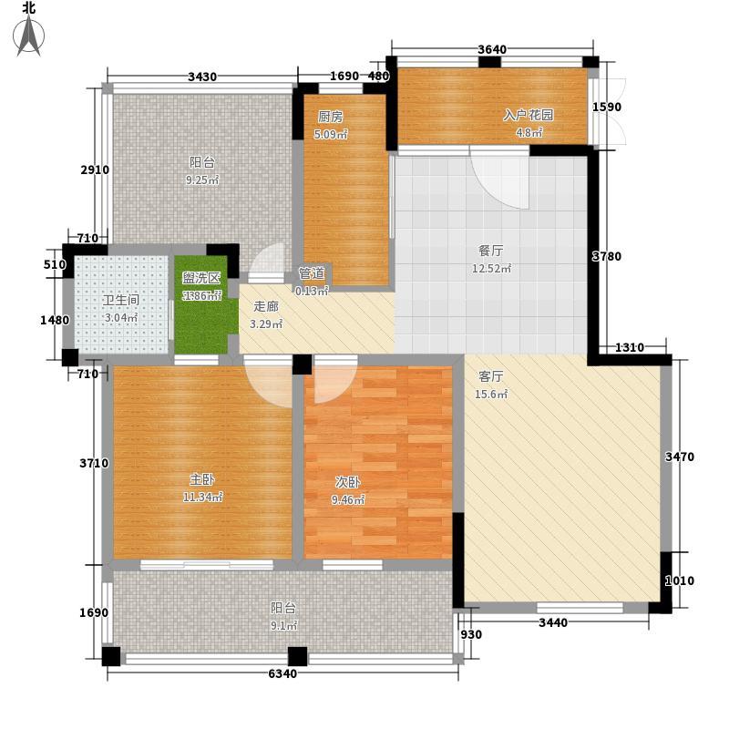 东方维罗纳100.00㎡G3户型2室1厅