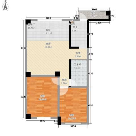 东方・新湖俪城2室1厅1卫0厨100.00㎡户型图