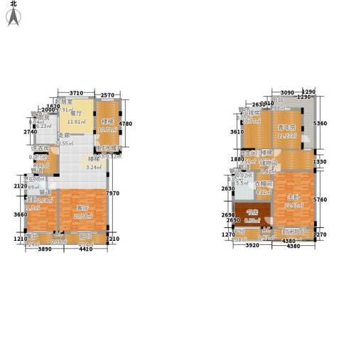 凤凰御都3室0厅3卫1厨286.00㎡户型图
