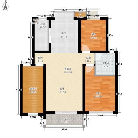 玉兰新村2室1厅1卫1厨81.00㎡户型图