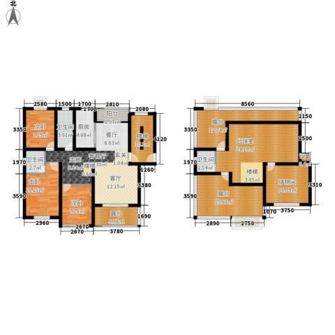 嘉恒・格林恬园3室1厅3卫1厨212.00㎡户型图