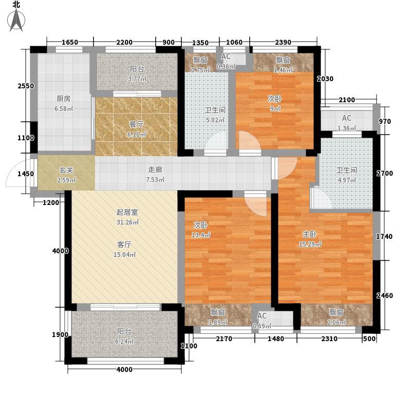 绿地镜湖世纪城129.00㎡8#9#楼D3户型