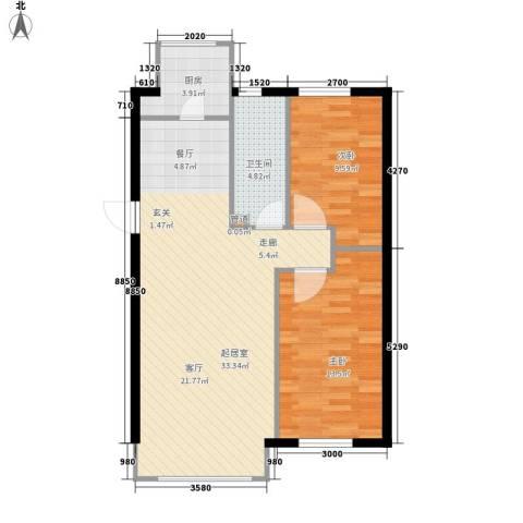 锦绣公馆2室0厅1卫1厨90.00㎡户型图