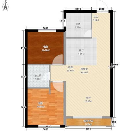 金域明珠2室0厅1卫1厨90.00㎡户型图