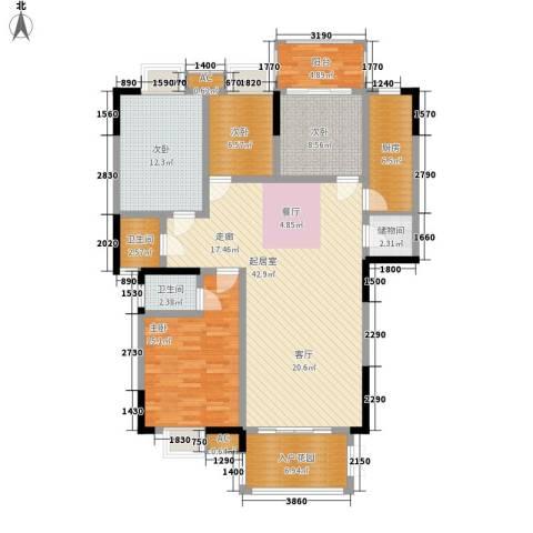 熙岸尚城二期4室0厅2卫1厨146.00㎡户型图