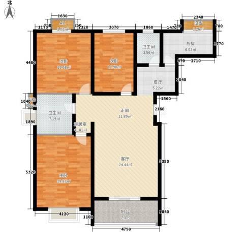 京源柳郡3室0厅2卫1厨132.00㎡户型图