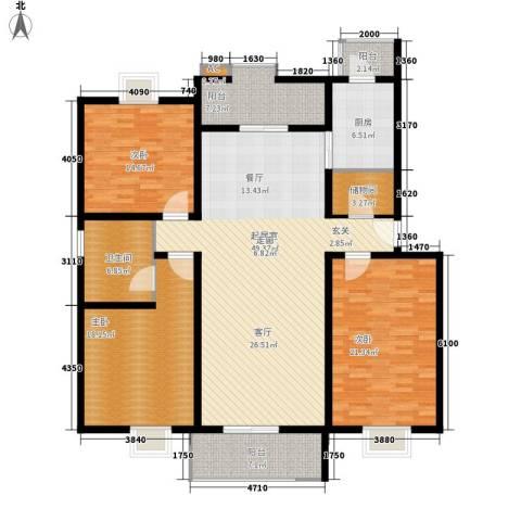 京源柳郡3室0厅1卫1厨155.00㎡户型图
