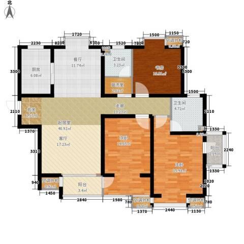 中基礼域3室0厅2卫1厨149.00㎡户型图