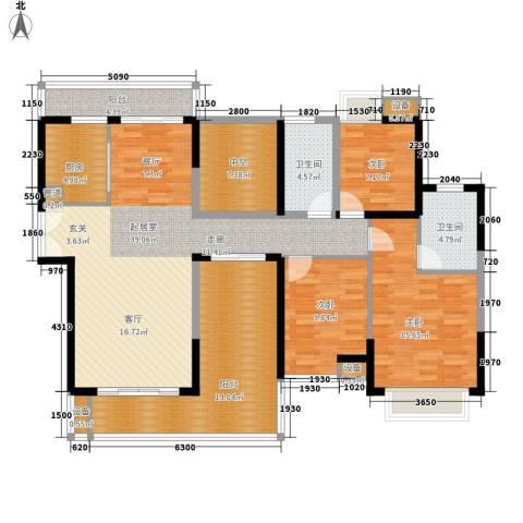 御景东方3室0厅2卫1厨135.00㎡户型图