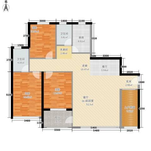 宏泽佳园3室0厅2卫1厨146.00㎡户型图