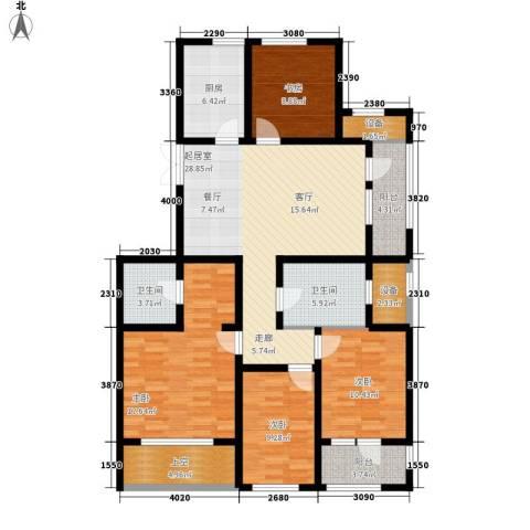 宏盛锦江玫瑰园4室0厅2卫1厨132.00㎡户型图