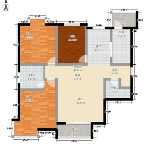 欧翔奥锋3室0厅2卫1厨120.00㎡户型图