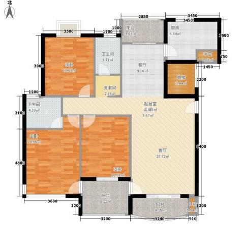 宏泽佳园3室0厅2卫1厨138.00㎡户型图