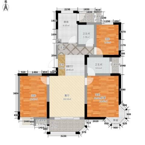 华园四季3室1厅2卫1厨113.00㎡户型图