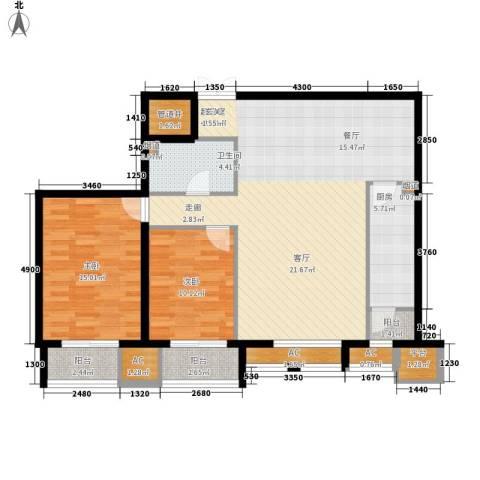 京津时尚广场SOHO商务公寓2室0厅1卫1厨129.00㎡户型图