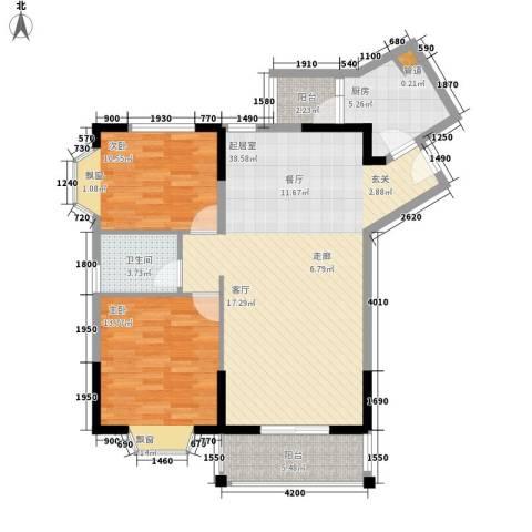 祥和御馨园2室0厅1卫1厨82.00㎡户型图
