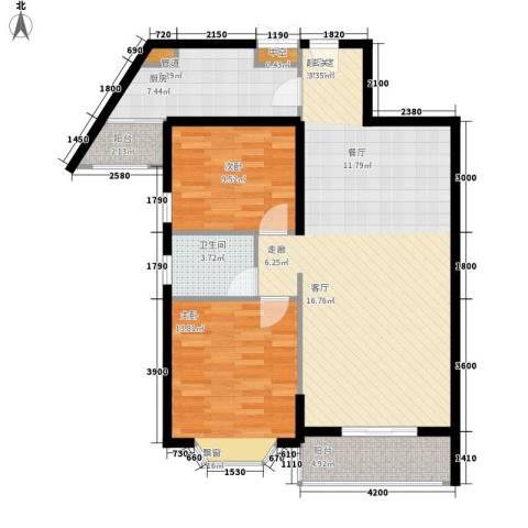 祥和御馨园2室0厅1卫1厨83.00㎡户型图