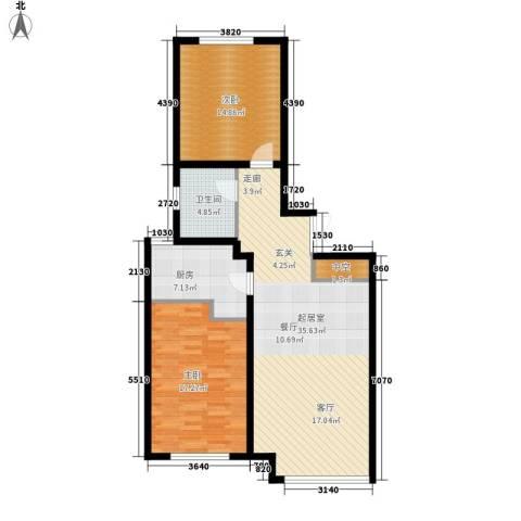 和美紫晶花园2室0厅1卫1厨91.00㎡户型图