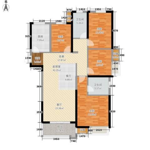 中海世纪公馆4室0厅2卫1厨127.00㎡户型图