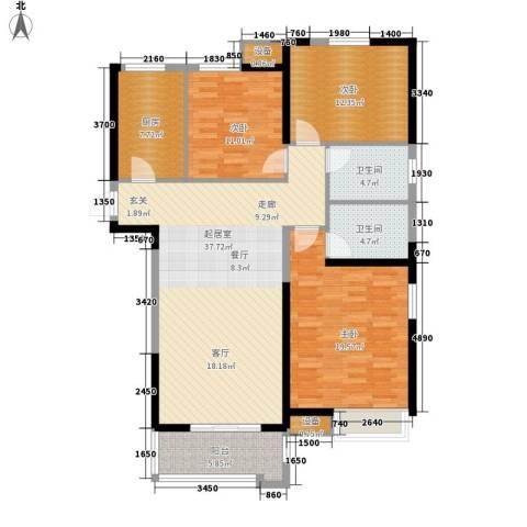 中海世纪公馆3室0厅2卫1厨118.00㎡户型图