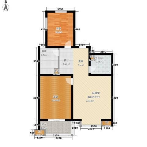 达诺现代城2室0厅1卫1厨98.00㎡户型图