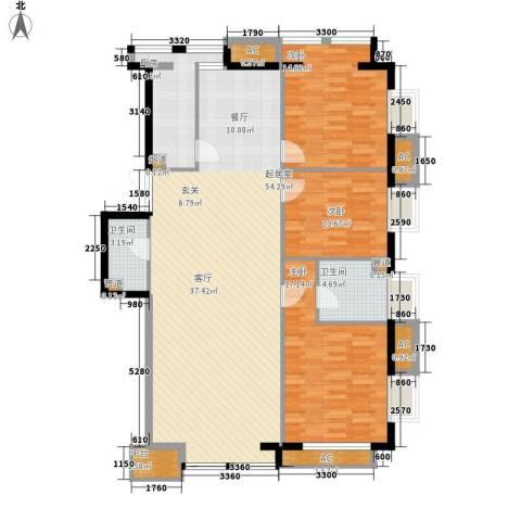 京津时尚广场SOHO商务公寓3室0厅2卫1厨164.00㎡户型图