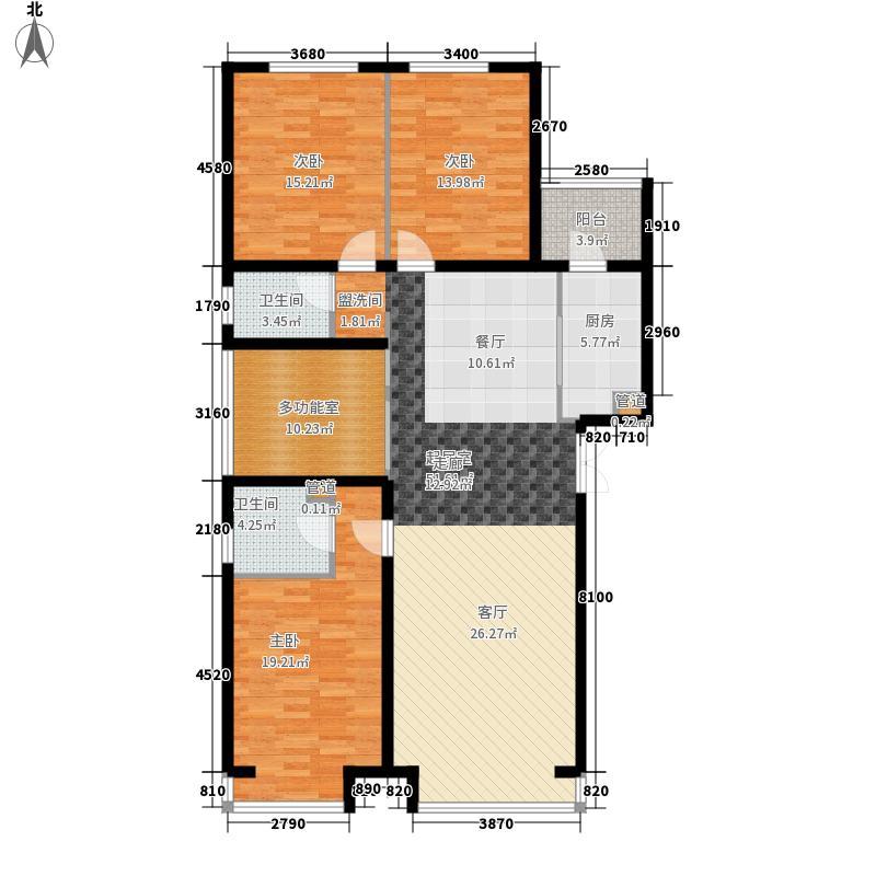 奥北公元143.31㎡一期B1户型4室2厅
