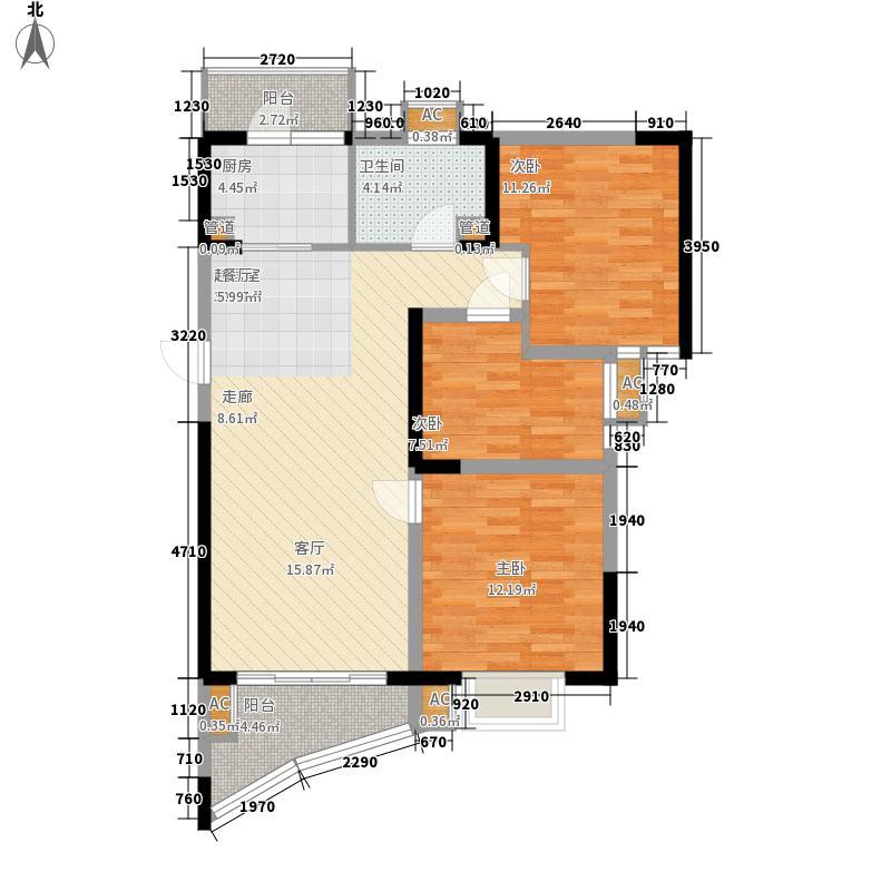 碧桂园十里银滩84.55㎡2号楼标准层F2户型