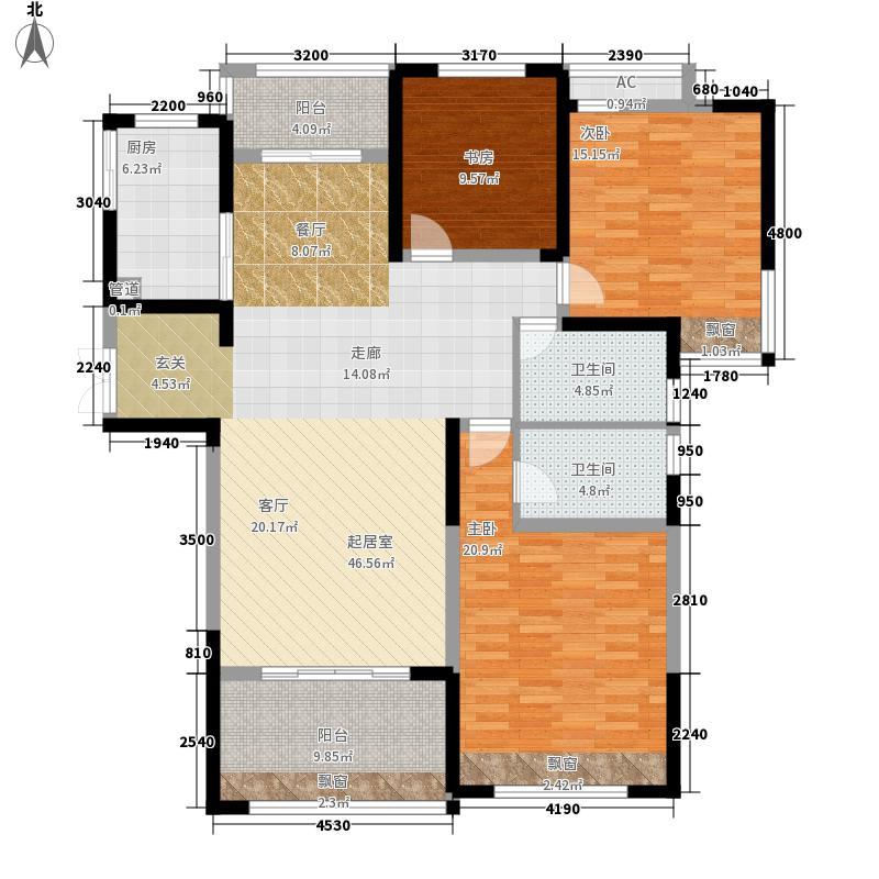 绿地镜湖世纪城139.99㎡27#楼高层F7户型