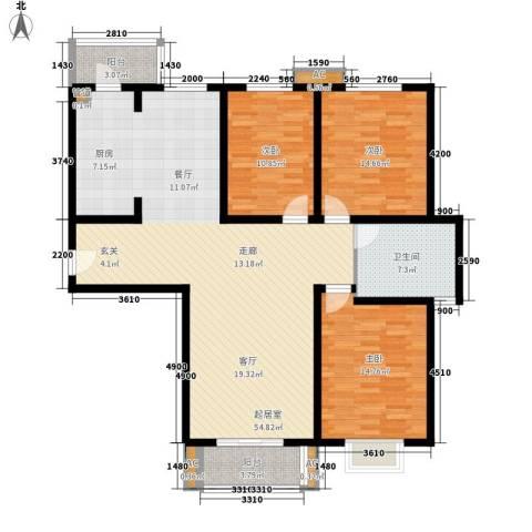 长瀛御龙湾3室0厅1卫0厨147.00㎡户型图