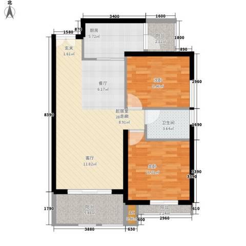 幸乐村小区2室0厅1卫1厨97.00㎡户型图