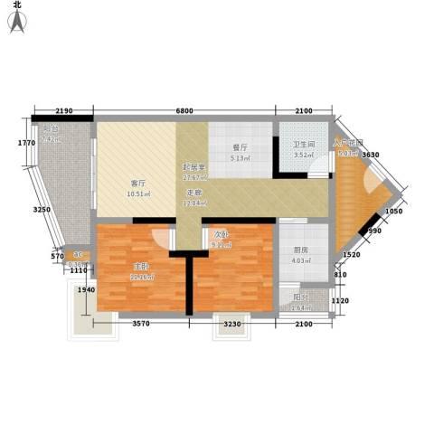 渝景大厦2室0厅1卫1厨115.00㎡户型图