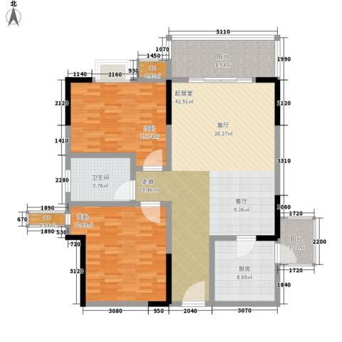 渝景大厦2室0厅1卫1厨118.00㎡户型图