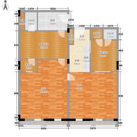 春晖园·随园2室0厅2卫1厨138.00㎡户型图