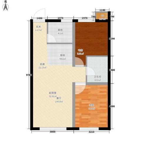 金域明珠2室0厅1卫1厨84.00㎡户型图