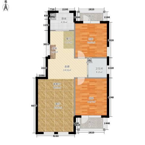 思拉堡温泉小镇2室1厅1卫1厨115.00㎡户型图