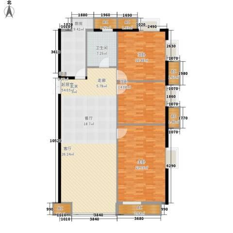 京津时尚广场SOHO商务公寓3室0厅1卫1厨188.00㎡户型图