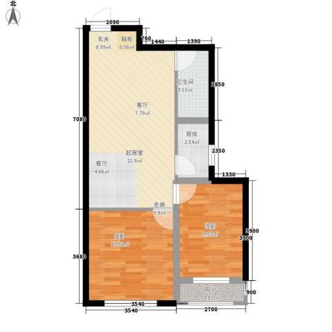 金域明珠2室0厅1卫1厨67.00㎡户型图