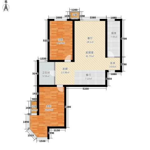 武阳丽园2室0厅1卫1厨129.00㎡户型图