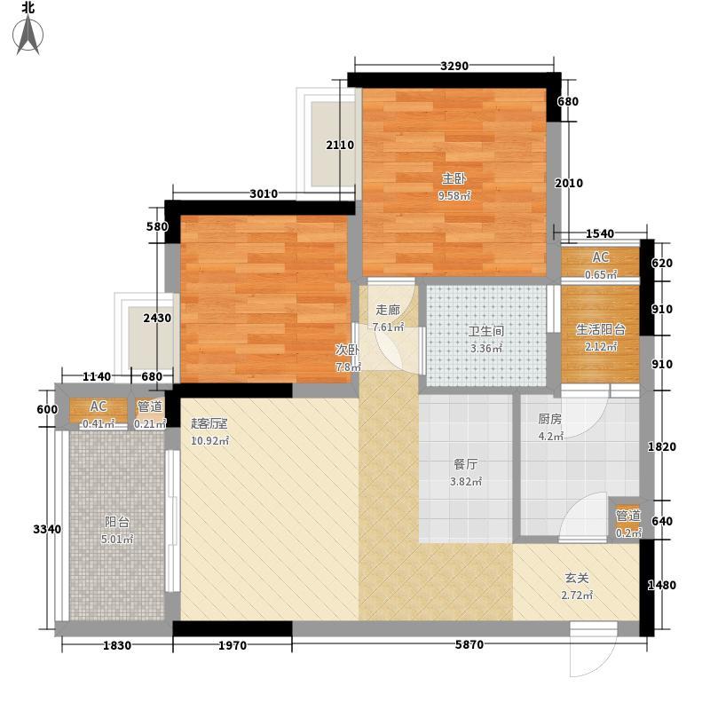 林正橙堡60.99㎡2号楼3号房已售面积6099m户型